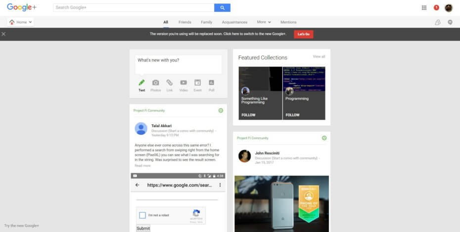 Say goodbye to classic Google+ on January 24