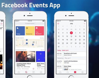 "Facebook launches standalone ""Events"" discovery and calendar app"