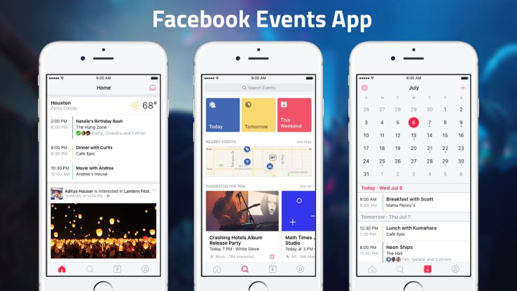 """Facebook launches standalone """"Events"""" discovery and calendar app"""